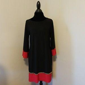 EUC MSK Chain Embellished Shift Dress, Perfect